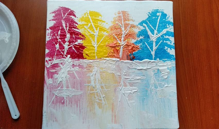 Photo of Easy Abstract Painting For Beginners – Acrylic Forest