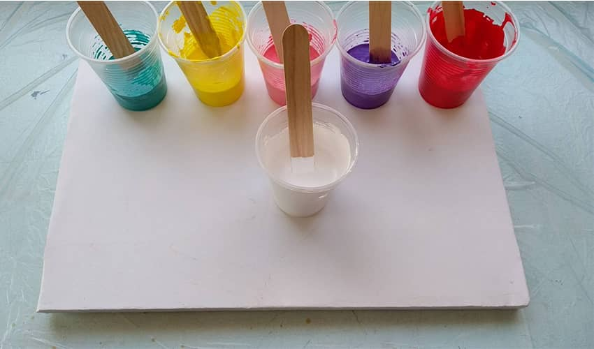 Photo of Story – Multicolor Acrylic Funnel Pouring Technique – What I Learned?