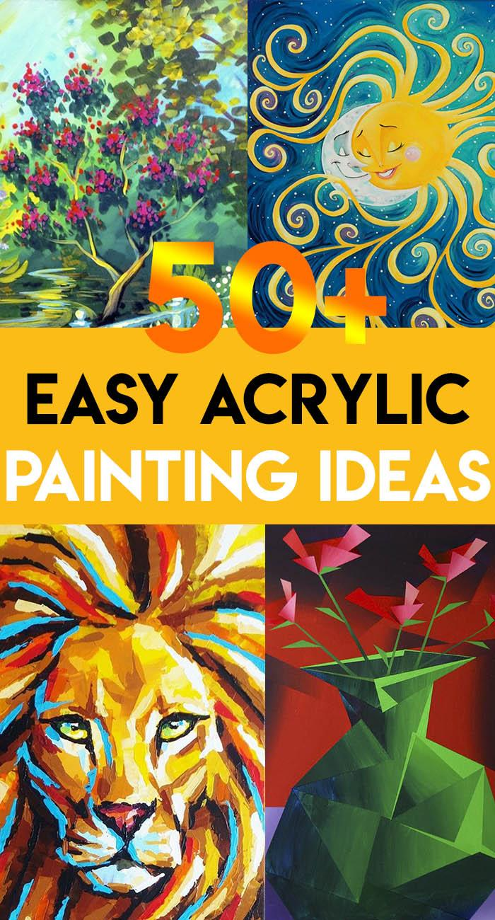 50 Acrylic Painting Ideas For Beginners Landscape Nature Harunmudak
