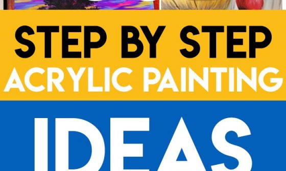 step by step acrylic painting easy