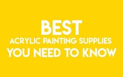 Acrylic painting supplies cover