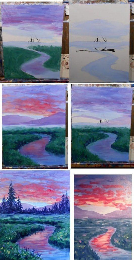50+ Step By Step Acrylic Painting Tutorials For Beginners ...