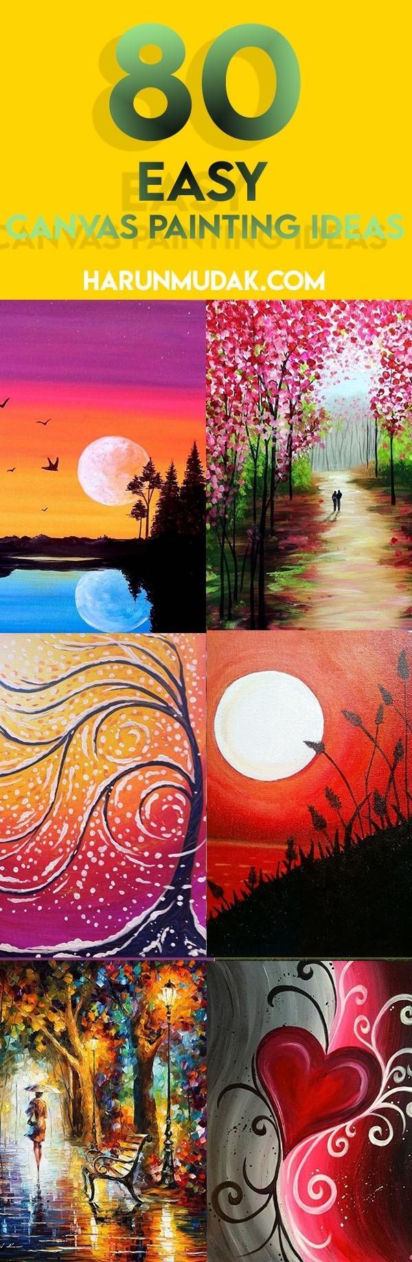 80 Easy Diy Canvas Painting Ideas Harunmudak