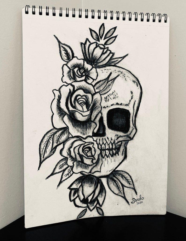 skull drawing easy 2