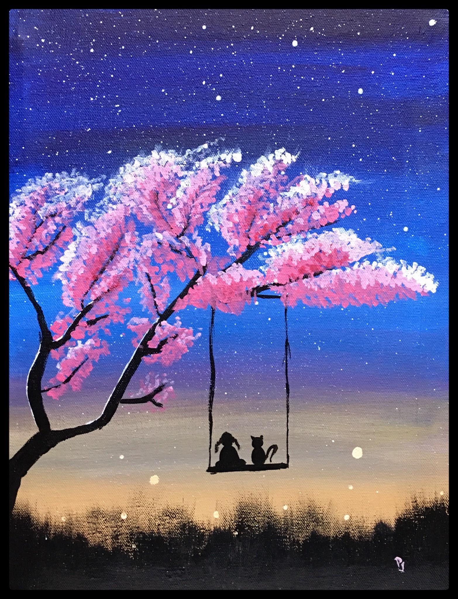 20 Night Sky Painting Ideas Harunmudak