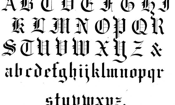 calligraphy alphabet 4